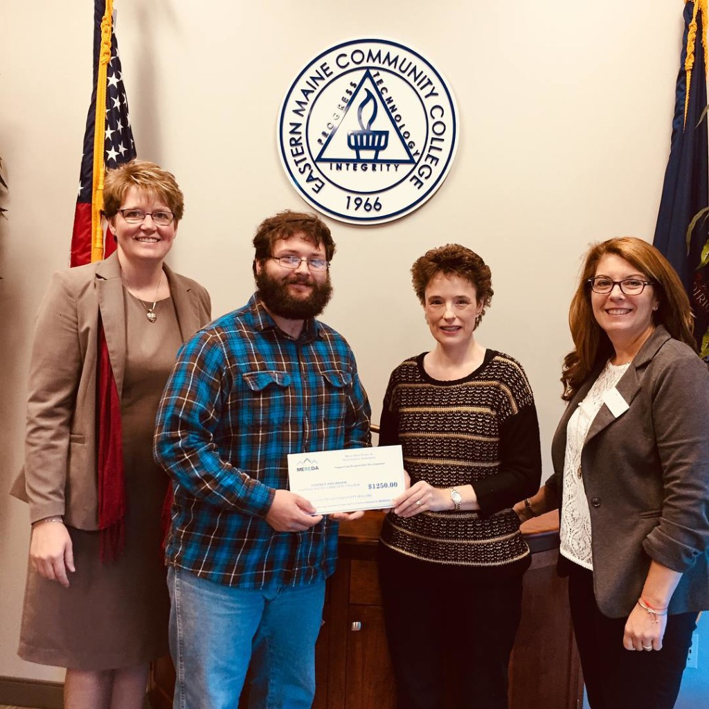 Bev Uhlenhake - Epstein Commercial Real Estate and MEREDA Board of Directors, EMCC student Stephen Philbrook, Shelly R. Clark - MEREDA and Jenn Khavari - Director of Advancement and Business Services at EMCC